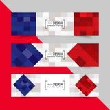 Reeks banners voor het kampioenschap van de Wereldfifa van Euro 2016 Stock Afbeelding