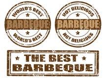 Reeks barbecuezegels Royalty-vrije Stock Afbeelding