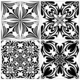 Reeks Barokke Tegels Royalty-vrije Stock Afbeelding