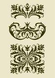 Reeks barokke vectorornamenten voor ontwerp Stock Foto