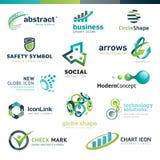 Reeks bedrijfs abstracte pictogrammen vector illustratie