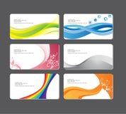 Reeks bedrijfs visitekaartjes. Vector illustratio vector illustratie
