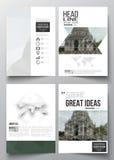 Reeks bedrijfsmalplaatjes voor brochure, tijdschrift, vlieger, boekje of jaarverslag vector illustratie