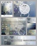 Reeks bedrijfsmalplaatjes voor presentatie, brochure, vlieger of boekje DNA-moleculestructuur op donkerblauwe achtergrond royalty-vrije illustratie