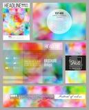 Reeks bedrijfsmalplaatjes voor presentatie, brochure, vlieger of boekje Kleurrijke achtergrond, Holi-viering, vector stock illustratie