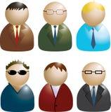 Reeks bedrijfsmensenpictogrammen Royalty-vrije Stock Afbeeldingen