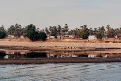 Reeks beelden van beroemde monumenten en plaatsen van Egypte Royalty-vrije Stock Foto's