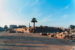 Reeks beelden van beroemde monumenten en plaatsen van Egypte Stock Foto's