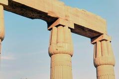 Reeks beelden van beroemde monumenten en plaatsen van Egypte Royalty-vrije Stock Fotografie
