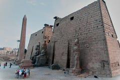 Reeks beelden van beroemde monumenten en plaatsen van Egypte Stock Afbeeldingen