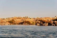 Reeks beelden van beroemde monumenten en plaatsen van Egypte Stock Afbeelding