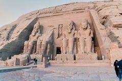 Reeks beelden van beroemde monumenten en plaatsen van Egypte Royalty-vrije Stock Afbeelding