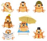 Reeks beeldverhaalhonden Royalty-vrije Stock Afbeeldingen