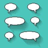 Reeks bellen van parenpixel in vlak ontwerp royalty-vrije illustratie