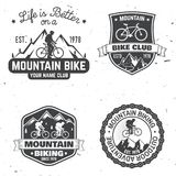Reeks Berg biking clubs Vector illustratie vector illustratie