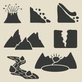 Reeks bergenpictogrammen royalty-vrije illustratie