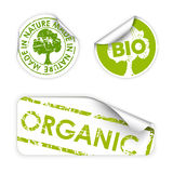 Reeks bio/eco/organische etiketten royalty-vrije illustratie