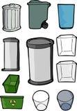 Reeks Blikken van het Afval en van het Recycling Royalty-vrije Stock Foto's