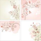 Reeks bloemenachtergronden Royalty-vrije Stock Afbeelding