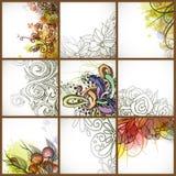 Reeks Bloemenachtergronden. Royalty-vrije Stock Afbeeldingen