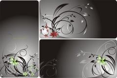 Reeks bloemenachtergronden voor kaart Stock Foto's