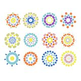 Reeks bloemenornamenten voor uw ontwerp Stock Foto