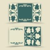 Reeks bloemenuitnodigingskaarten Royalty-vrije Stock Afbeeldingen