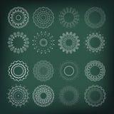 Reeks bloemvormen 16 elementen voor uw ontwerp en decoratie Stock Foto's