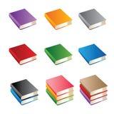 Reeks boeken van diverse kleur Royalty-vrije Stock Afbeelding
