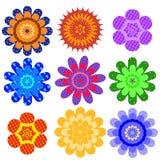 Reeks bont geometrische kleuren Stock Foto