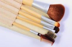 Reeks borstels voor make-up Royalty-vrije Stock Fotografie
