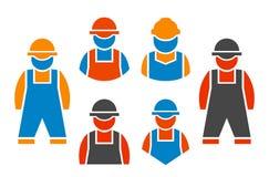 Reeks bouwers stock illustratie