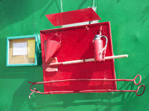 Reeks brandblushulpmiddelen Stock Foto's