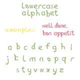 Reeks brieven als alfabet in kleine letters Royalty-vrije Stock Foto's