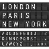 Reeks brieven op een mechanisch tijdschema stock illustratie