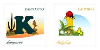 Reeks brieven van het Alfabet, k-l Royalty-vrije Stock Foto's