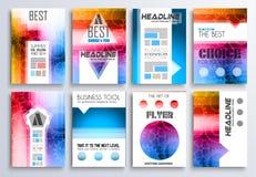 Reeks Brochure, Vliegers en lay-outmalplaatjes voor u projecten Stock Afbeelding