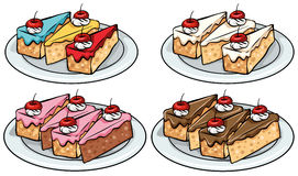 Reeks cakes Royalty-vrije Stock Fotografie