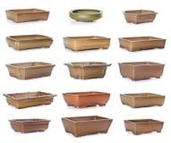 Reeks ceramische bloempotten Royalty-vrije Stock Foto's