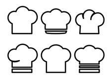 Reeks chef-kokhoeden Vector illustratie stock illustratie