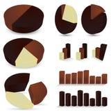 Reeks chocoladediagrammen Stock Foto's