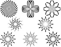 Reeks Cirkel Decoratieve Elementen Royalty-vrije Stock Foto