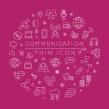 Reeks communicatie pictogrammen Stock Afbeeldingen