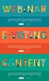 Reeks Concepten van ABC Internet in Vlak Ontwerp Royalty-vrije Stock Fotografie