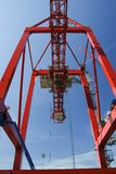Reeks containerkranen   Stock Afbeelding
