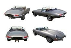 Reeks convertibele sportwagens - het e-Type van Jaguar Royalty-vrije Stock Foto