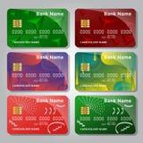 Reeks creditcard kleurrijke geometrische ontwerpen stock illustratie