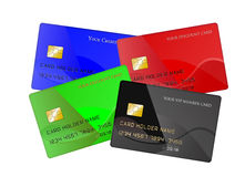 Reeks creditcards Stock Foto's