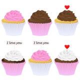 Reeks cupcakes Royalty-vrije Stock Foto