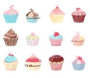 Reeks cakes royalty-vrije illustratie